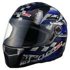 LS2 CR1 Impact Blue Black Graphic Full Face Motorcycle Riding Helmet