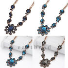 2015 Personality Women Fashion Crystal Branches Chunky Chain Statement Necklace