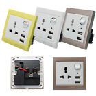 Double 2 USB Ports Wall Charger Socket Power Supply Outlet Plug Switch Adapter