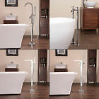 Taps Bathroom Freestanding Tap Bath Shower Mixer Mono Faucet Stand Pipes