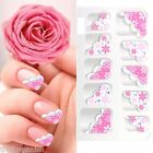 Nail Art Lace Stickers Decals Transfers Flowers Bows Glitter French Tips