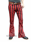 Flares Red Black Striped Stripe Men Bell Bottoms Hippie Vtg Indie Pants 60's
