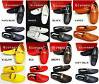 Men's GIOVANNI black white blue red faux leather Driving Moccasins shoes M01-1