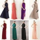Summer Stand Collar Maxi Charm Chiffon Vintage Long New Dress Casual Sleeveless