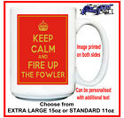 """FOWLER (steam traction ploughing engine roller) funny """"Keep Calm"""" MUG rally gift"""