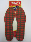 Mens Patons Tartan Patafoam Latex Full Shoe Insoles 1 Pair Style TARTINFULL
