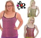 STRAPPY  VEST TOP LEOPARD GOTH ALTERNATIVE