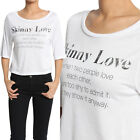 TheMogan Casual Chic Letters Print Modal Elbow Sleeve Crop Top