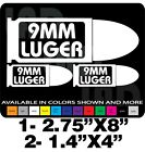 9MM AMMO CAN SET DECALS GUN DECALS TOOLBOX RUGER S&W GLOCK SPRINGFIELD TRUCK