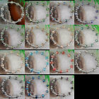 "7x10mm Crystal Faceted Beads Stretch Bracelet 7 1/2"" WFH014"