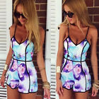 Sexy Womens Sleeveless Floral Print Playsuit Summer Dress Jumpsuit Romper Shorts