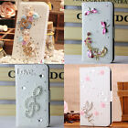 3D bling gem WALLET card LEATHER CASE COVER holster pouch soft for i phone 5C