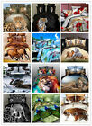 3D Animal Print Tiger Wolf BEDDING Bed Sheets Textile Cover Pillow Set Queen