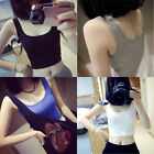 Sexy Women Girls Slim T-Shirt Short Sleeveless Crop Tops Camisole Crew Neck Vest