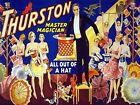 Quality POSTER on Paper or Canvas.Wall Art Decoration.Thurston Magician Hat.4807