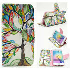 Fashion Painting Colorful Tree Card Wallet Flip Leather Cover Case with Stand F3