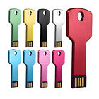 32/64/128 GB Metal Key USB 2.0 Flash Memory Drive Stick Pen Storage Thumb U Disk