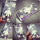 Dynamic Liquid Glitter Quicksand 3D Snow Baymax Robot Case For latest phones