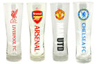 Premier League Football: Pilsner / Tulip Pint Glass New In Pack LFC MUFC AFC