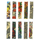 Fake Slip-on Tattoo Sleeves Art Dress Japan Carp Fish & Flower Seahorse Totem
