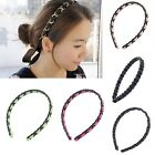 Fashion New Faux Leather Plastic Headband Womens Girls Ladies Hairband Headwear