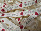 Grosgrain Ribbon Bertie`s Bows Love to Sew & Button on Cream 16mm BTB042