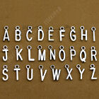 (a-z) 26 Alphabet Letter Charms Pendants Beads Jewellery Making 20pc B576y