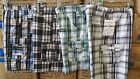 Black Red plaid cargo shorts plaid cargo walking golf casual shorts W30-44W