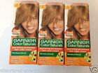 3 x Garnier Colour Naturals Permanent Hair colour Creme Dye 7 Blonde