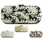 LADIES VINTAGE EMBROIDERY HARDCASE PROM PARTY EVENING DRESSY OCCASION CLUTCH BAG