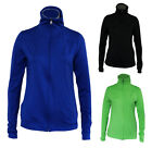 LADIES Activewear Zip Thin Gym Stretch Jacket Black Blue Green 8 10 12 14 16