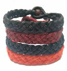 Fair Trade Waxed Cotton Cord Plait Thai Wristband Classic Handcrafted Wristwear