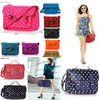 Ladies Girl's Women's Fashion Chic Polka Dot Spotty Dotty Satchel Bag School A4