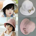 Unisex  Baby Girls Toddlers Infant Large Brim Cotton  Sun Soft Caps Summer Hats