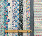 FINAL 2.5m BUNDLE of 10 BLUE tones polycotton quilting FAT QUARTERS PC2