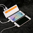10000mAh Power bank 2 USB Battery Charger For iPhone 8 Android Phones Portable