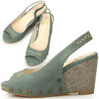 New Womens Hot Sexy Designer Heels Wedge Platform Sandals Light Blue