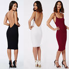New Fashion Summer Women Sexy Backless Slip Dress Lady Bodycon Wrap Dress