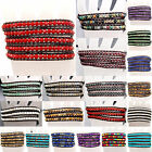 Hot Handmade Colorful Mixed Crystal and Gemstones Beads Wrap Leather Bracelet