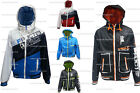 Mens Jacket DL Project Lightweight Windbreaker Hoody Mesh Lined Contrast Colour