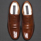 Mens Leather Motion Dress Lace Up Brown Shoes