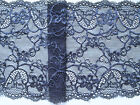 NEW~ Beautiful Stretch Dark Navy Blue  Lace 17 cm /Trim/Craft