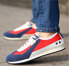 NEW Brand Leather Casual Men Stripe Fashion Flat Sneakers Outdoor Running Shoes