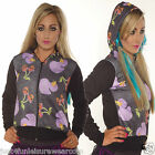 HOODIE SKULL CHERRIES & VAMPIRE DUCK  INSANITY GOTH EMO SWEATSHIRT ALTERNATIVE