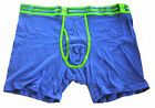 "Under Armour Charged Cotton Boxerjock Blue Green 6"" Boxer Shorts NIB 1234027 487"