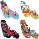 FLIP FLOPS GIRLS BOYS OFFICIAL DISNEY AVENGERS STAR WARS KIDS BEACH MULES BNIP