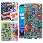 Vintage Paisley American Flag Flower Rubberized Protective Case Cover For LG G4