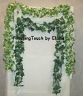 2 x 6ft long Artificial chain Link Ivy Garlands Green or Variegated Wedding Arch