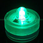 12pcs LED Submersible Waterproof Green Wedding Decorate Tea Battery light SH