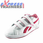Reebok Classic Junior Kids Girls Solid Court 3V  Velcro Trainers *AUTHENTIC*